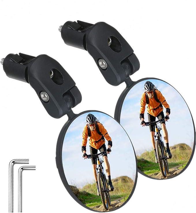 Road Bike Cycling Handlebar Plug Rear View Mirror Bicycle Accessories US STOCK