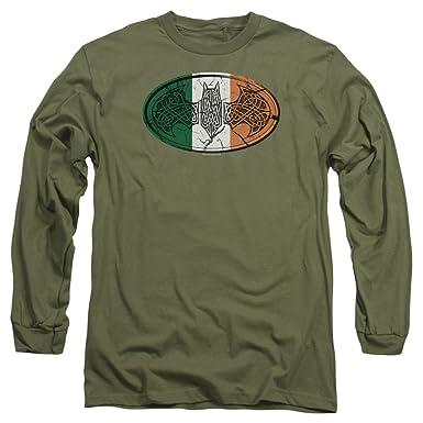 1267e4c8c Amazon.com: Batman Celtic Irish Symbol Long-Sleeve T-Shirt: Clothing