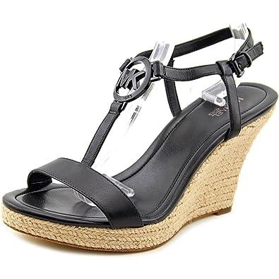 bfa09e064aa Michael Michael Kors Tania Espadrille Wedge Sandals (11) Black