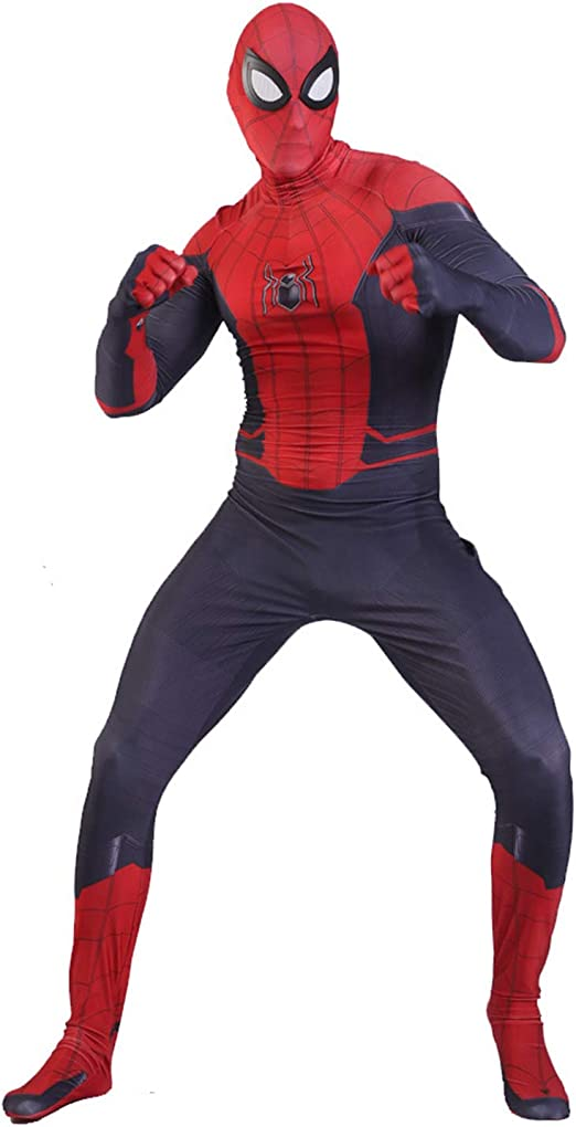 QWEASZER Traje Negro de Spider-Man Far from Home Spiderman Rojo ...