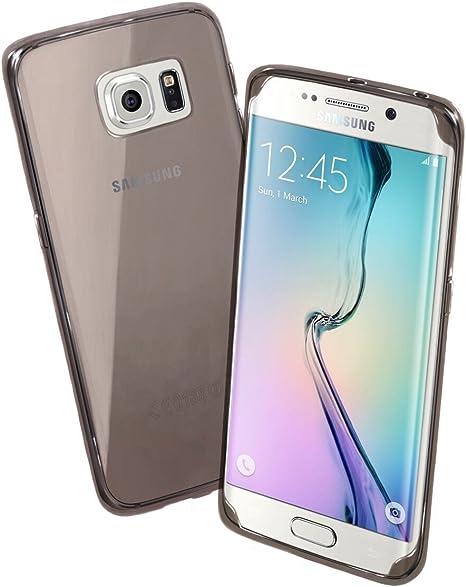 Samsung Galaxy S6 edge Coque, doux Gel en caoutchouc transparent fin Coque de protection – par Chivel (TM), Gray