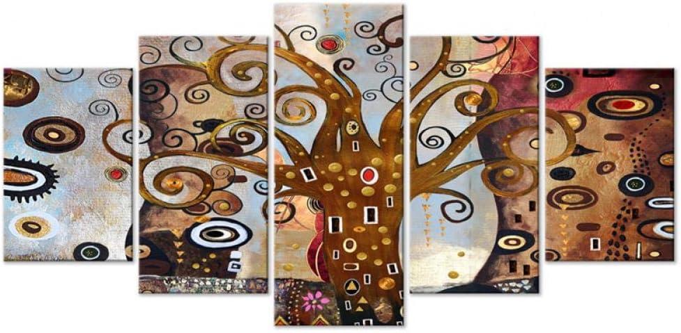 Patrón De Árbol Abstracto, Pintura De Lienzo, Decoración Del Hogar, Impresión Por Computadora, Mural, Pared De Fondo Del Sofá, Cuadro Colgante De Dormitorio, Enmarcado, 150 * 80cm