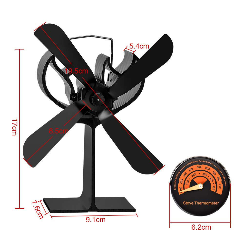 Neue Versiontowinle Stromloser Ventilator Für Kaminholzöfen