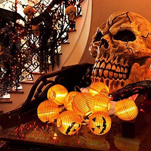 WmBetter Pumpkin String Lights Detachable Polyester Halloween Pumpkin Lanterns with 10 LED lights for Halloween Decoration by Wmbetter (Image #2)