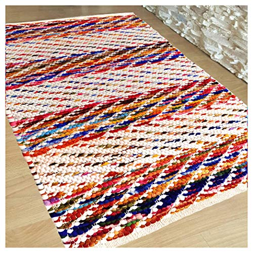 (Hand Woven Multi Chindi Rug for Kitchen-Livingroom-Bedroom - 2 X 3 feet (2 X 3, Multi)