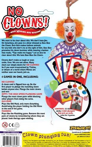 Amazon zobmondo no clowns plunger card game toys games no clowns plunger card game toys games colourmoves