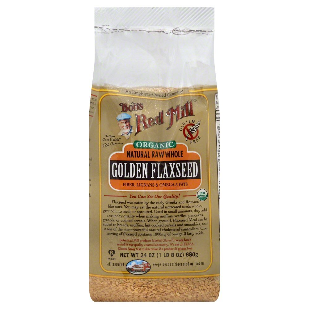 Bobs Red Mill Flaxseed Golden Organic 24.0 OZ(Pack of 12)