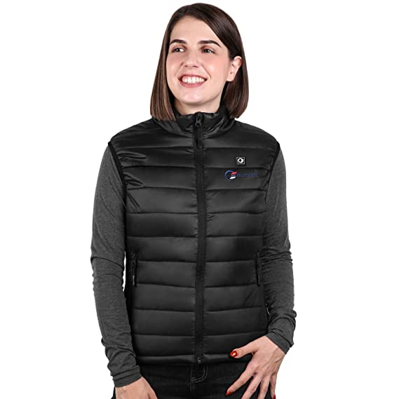OUTCOOL Women's Heated Vest Slim Fit Insulated Heating Vest (Type:NMJ1802)(S) Black best heated vest for women