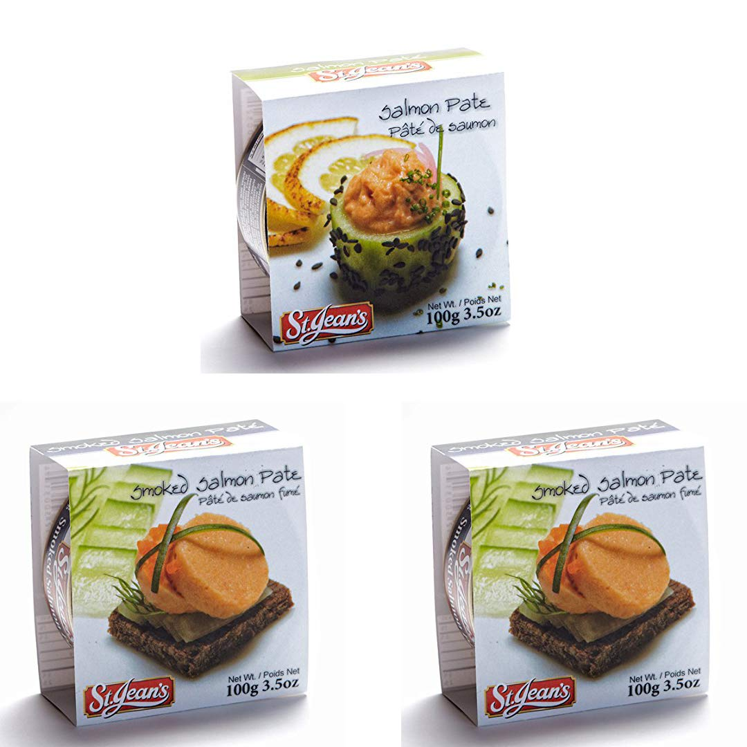 Pate Wild Smoked Salmon Gourmet Gift Food Canadian De Campagne 3 Pack