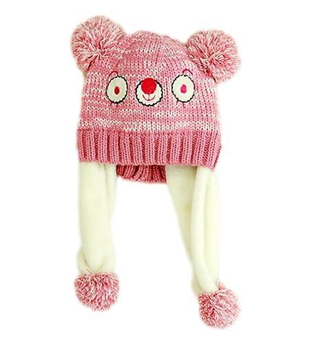 Ruikey 1 PCS Cappello in Lana con Paraorecchie Semplice Modello Koala per  Bambini da 1 a 627b0f02f096
