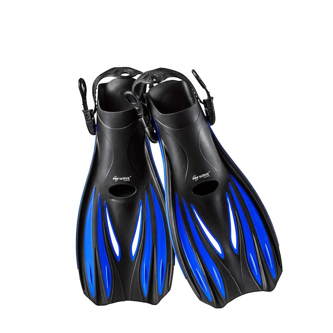 Aikemi kasur 水泳活動のための大人のシュノーケリングのひれの足のダイビングフィンの水泳のレッスン (Color : Black blue, サイズ : S) B07QG6CXYY Black blue Medium Medium|Black blue