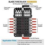 Electop 12-Way Blade Fuse Block, 12 Circuits with