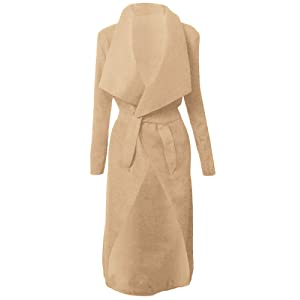 Italien cascade Kim KARDASHIAN CELEBRITY Jewellery Manteau Veste longue ceinture, Cape Cardigan femme