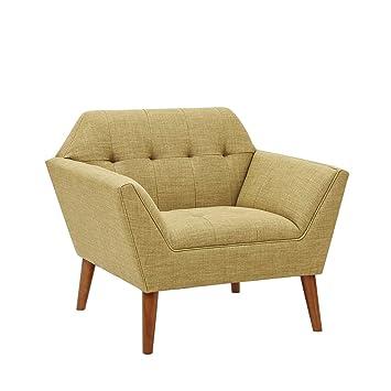 Ink+Ivy IIF18-0015 Lounge Yellow Multi, Modern Mid-Century Style Living  Room Sofa Furniture