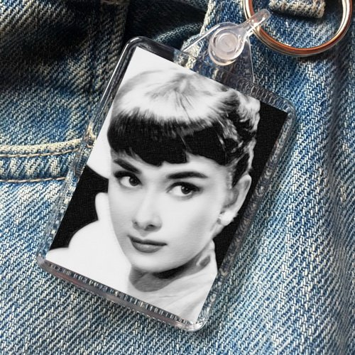 Audrey Hepburn - Original Art Keyring #js002