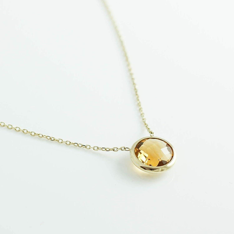 Tiny Mystic Citrine Necklace  Wire Wrapped Necklace with Citrine Stone  Delicate Gemstone November Birthstone Jewelry