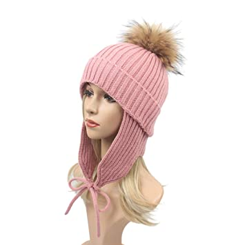 a63237ca68ce3 Old DIrd winter hat women with ear flaps Women Winter Beanie Hat Ski Cap  Fleece Lined