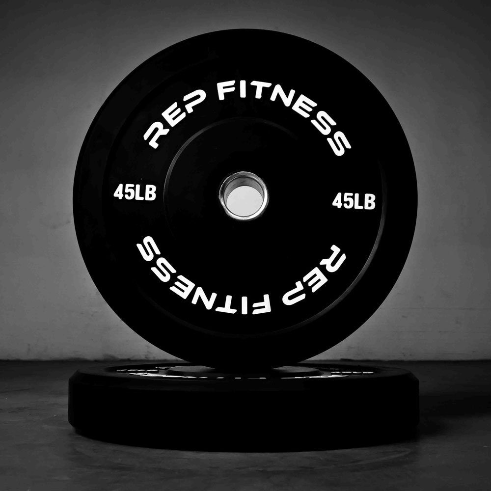 Rep Bumper Plates for Strength and Conditioning Workouts and Weightlifting 45 lb Pair by Rep Fitness (Image #2)