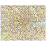 X large london taxi cab knowledge wall map poster of london gloss large london knowledge wall map 2014 laminated with gloss finish 2m x 15m publicscrutiny Image collections