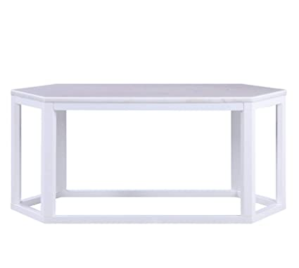 Marble And Silver Coffee Table.Major Q 40 W Contemporary Style Cream Marble Top Silver Finish Hexagon Shape Living Room Coffee Table 9082455