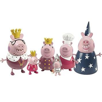 Peppa Pig Familia Real Bandai 84330 Amazon Es Juguetes Y Juegos