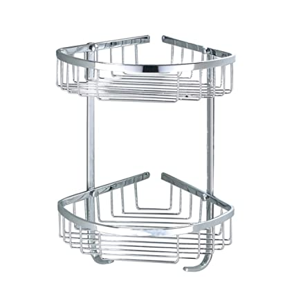 Exceptionnel SUS 304 Stainless Steel Shower Caddy Basket Bathroom Corner 2 Tier Large  Triangular Shower Basket