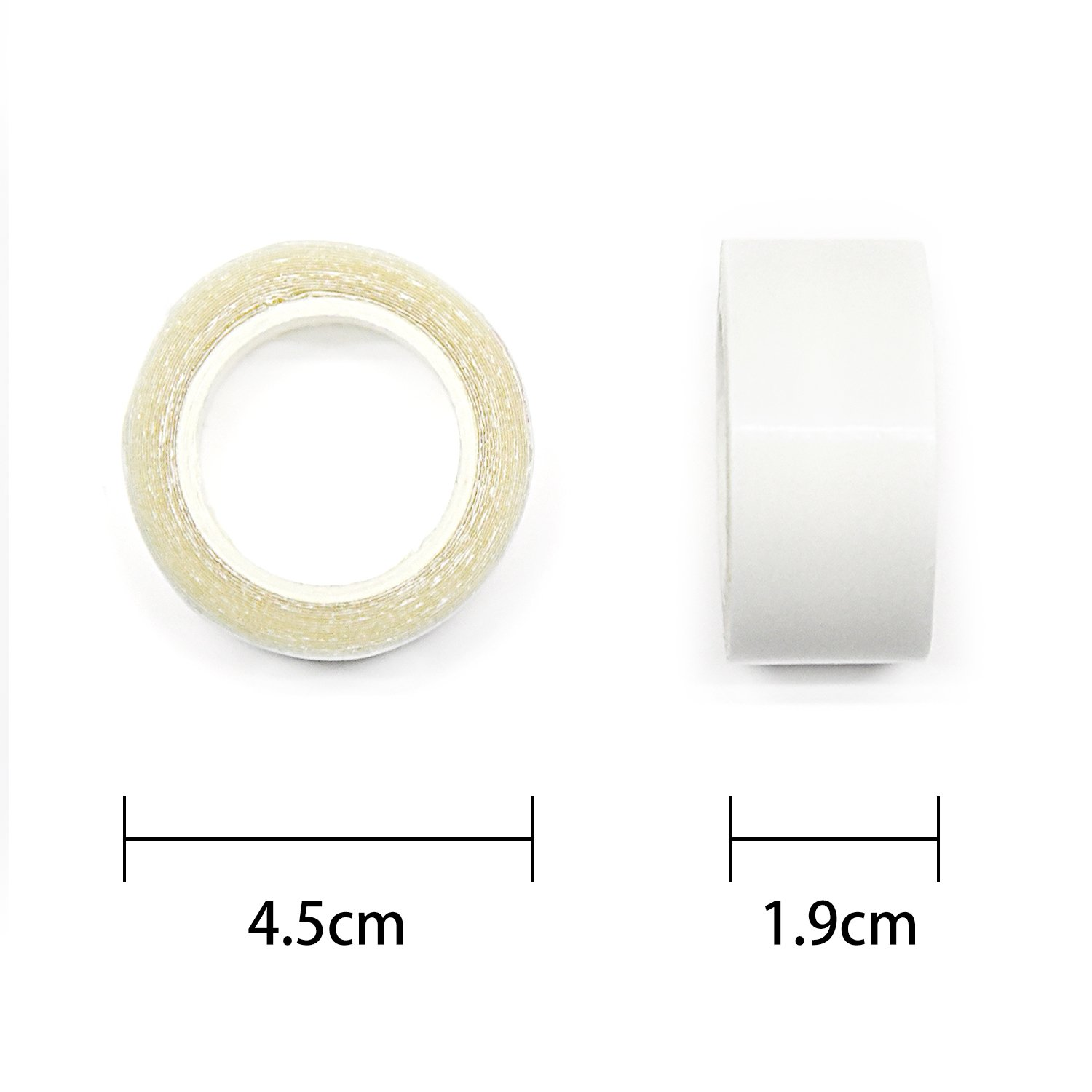 Neitsi 1cmx3Y Double Sided Tape For PU Hair Extension Wig Adhesive Waterproof Clear - White LTD