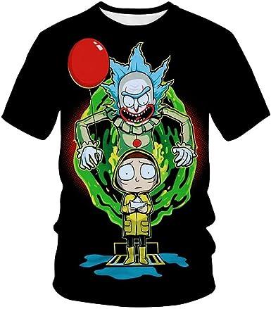 2020 Explosion 3D Camiseta Rick and Morty Summer Top Anime Manga Corta Aa33