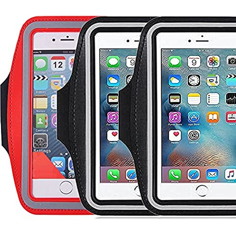 3Pack Sports Armband with Key Holder,ibarbe Running Jogging Exercise Gym Biking Walking Water resitant Arm Band for iPhone 6,6S,5,5S,5C,iPods, Galaxy S6/S7 edge LG G Vista 2 HTC Desire 82 (Iphone 5c Cases Of Mice And Men)
