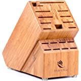 Bamboo Knife Block (Without Knives), Best For Storage Of Your Quality Cutlery. Stylish and Eco-Friendly, This Beautiful & Professional Wooden Block Will Be A Great Kitchen Addition. By Midori Way