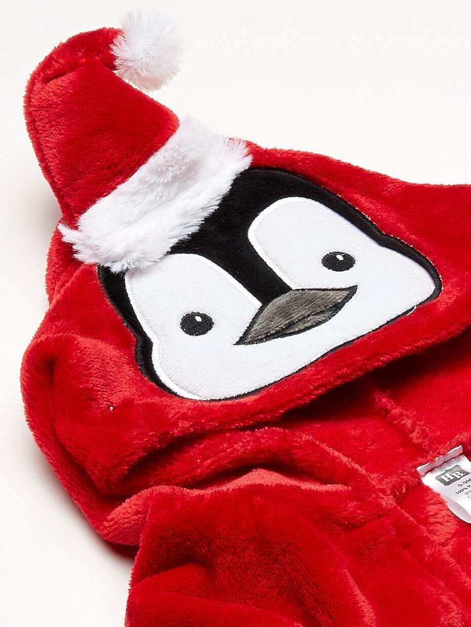 One Size boy Penguin Hudson Baby Baby Plush Animal Face Robe