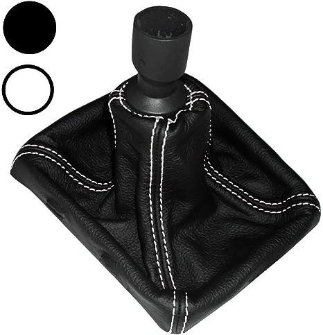 Aerzetix Schaltsack Schalthebelmanschetten Schalthebelmanschette Schaltbetatigungs Schwarze Farbe 100 Leder Nähte Weißen Auto