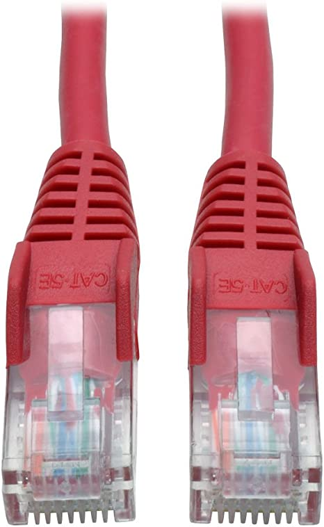 N001-003-RD - Red 3-ft. Tripp Lite Cat5e 350MHz Snagless Molded Patch Cable RJ45 M//M