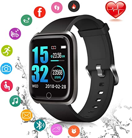 Fitness Tracker, Smart Watch Fitness Watch Activity Tracker with Sleep Monitor Heart Rate Measure IP67 Waterproof Sports Watch, Smartwatch for Android ...