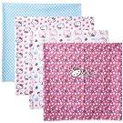 Hello Kitty Baby-Girls Newborn 4 Pack Flower Receiving Blankets, Carmine Rose, 0-6 Months