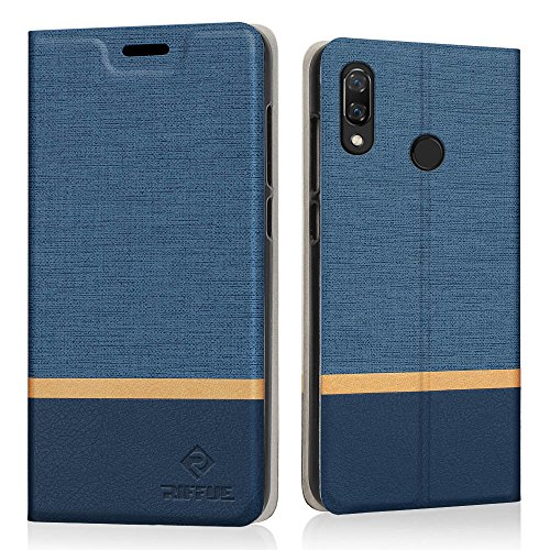 RIFFUE Case for Huawei P Smart , Slim Thin PU Leather Flip Wallet ...