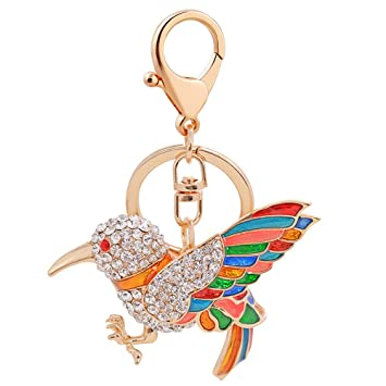 Amazon.com  Women Creative Parrot Bird Keychain f0902cedc