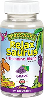 KAL® Relax-a-Saurus | Stress Support for Kids | L-Theanine Relaxation Blend