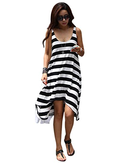 Sholdnut White Dress With Black Stripes Black And White Striped Gown