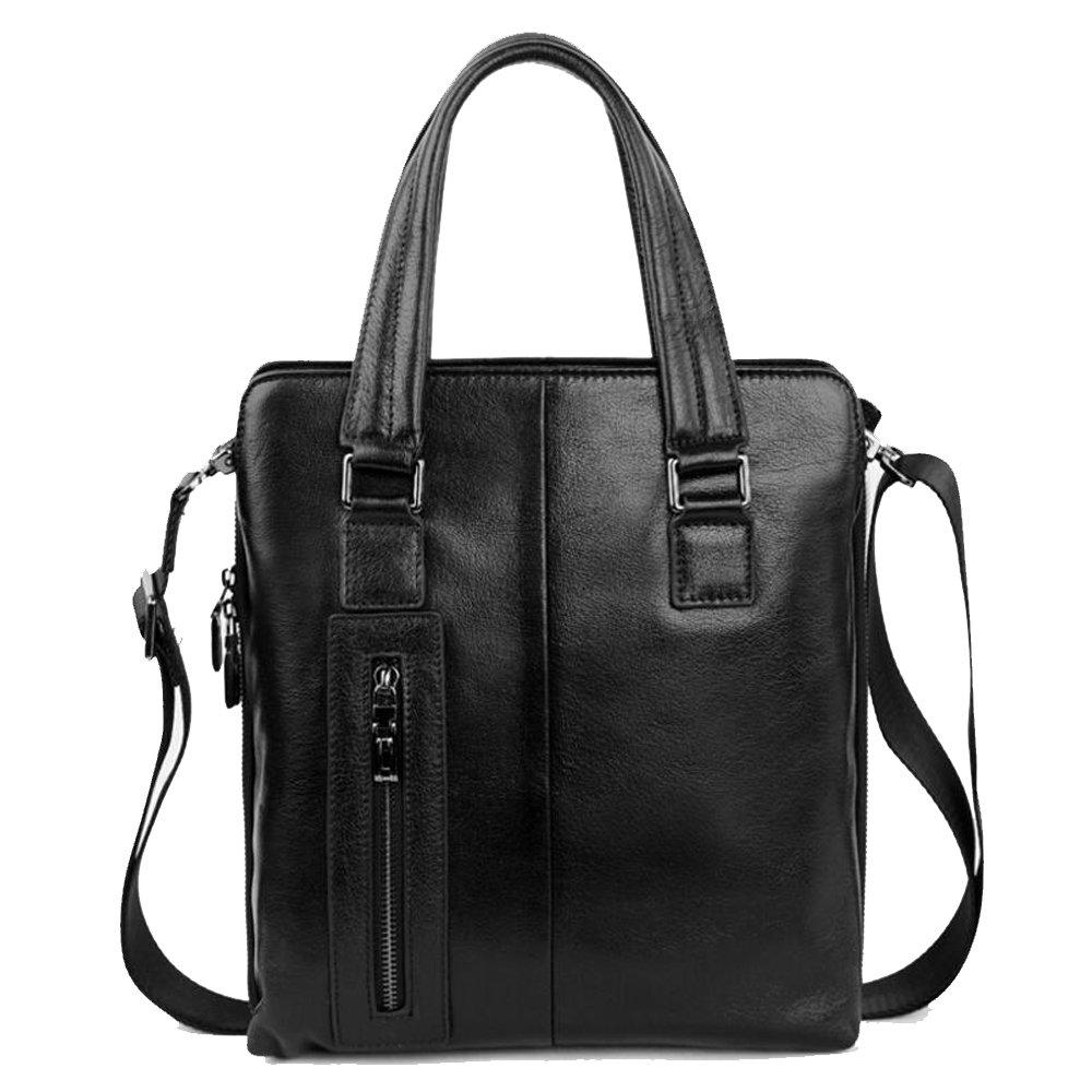 JIANFCR Lederhandtaschen Herren Aktentasche Große Kapazität Vertikale Geschäft Ledertasche Hochwertige Leder Herren Schulter/Messenger Bag