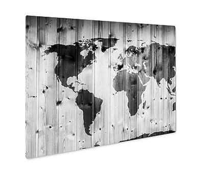 Amazon ashley giclee metal panel print world map on wooden ashley giclee metal panel print world map on wooden wall retro wood planks vintage gumiabroncs Choice Image