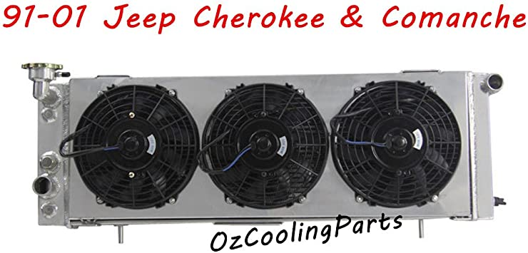 4 Row ALL-Aluminum Engine Radiator For 1984-2001 JEEP CHEROKEE//COMANCHE l4//l6 EZ