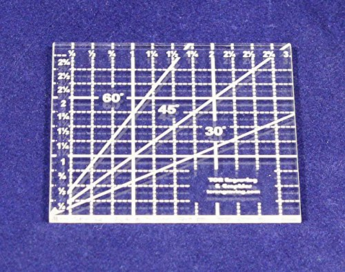 3 Inch Square Ruler Acrylic 1/8 Inch - 3 Quilt Squares Inch