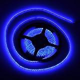 FAVOLCANO High Density Blue IP65 Waterproof Led Light Strip, LED Tape ,SMD 3528, 600 LEDs 5 Meter or 16.4 Feet LED Strip 120 Leds/M Multifunctional