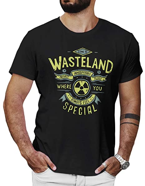 4c137b181bf6 LeRage Come to Wasteland Shirt Nuclear Post Apocolyptic Gamer Gift Men's  Small