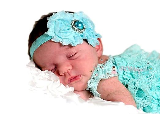 40b219200 Amazon.com: Baby Girl Petti Lace Romper and Headband Set: Clothing