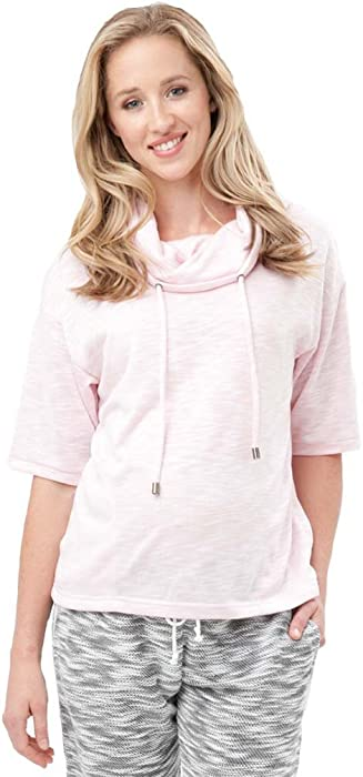 b5dea70b776 Ripe Maternity Zen Cowl Neck Lounge Top - Pink - Small at Amazon ...