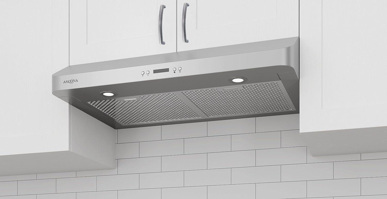 ancona under cabinet range hood amazon ca home kitchen