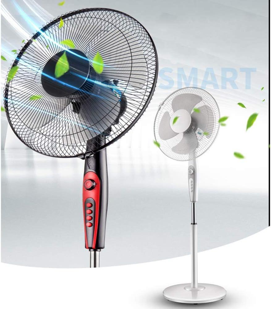 Cool Summer Ventilatore a Piantana Regolabile Altezza Silenzioso Oscillante 3 velocità Portatile Fan per Famiglia Ufficio White White