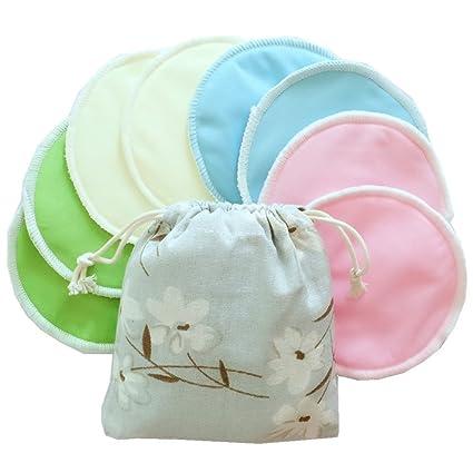 Urmelody lavable absorbente orgánicos bambú ubre Covers sujetador de lactancia almohadillas reutilizables absorbentes para noche Ultra